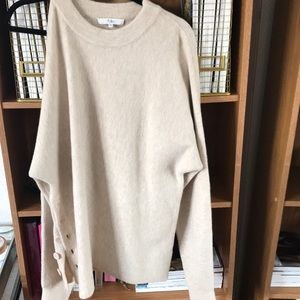 TIBI cold shoulder sweater